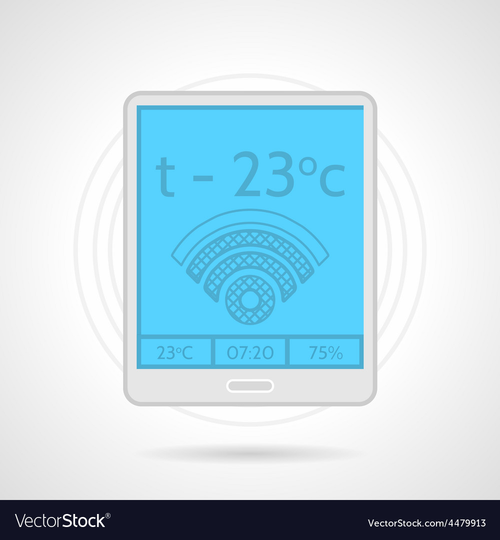 Colorful icon for heating controller device vector | Price: 1 Credit (USD $1)