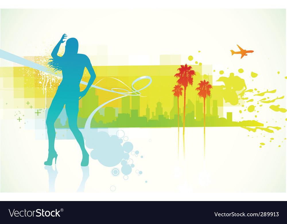 Dancing girl vector   Price: 1 Credit (USD $1)