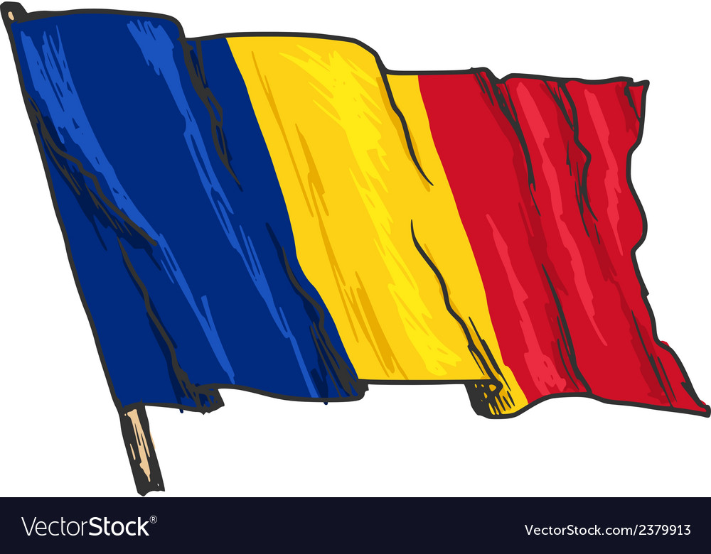 Flag of romania vector | Price: 3 Credit (USD $3)