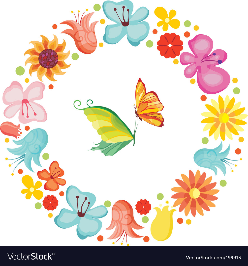 Flower boarder vector | Price: 1 Credit (USD $1)