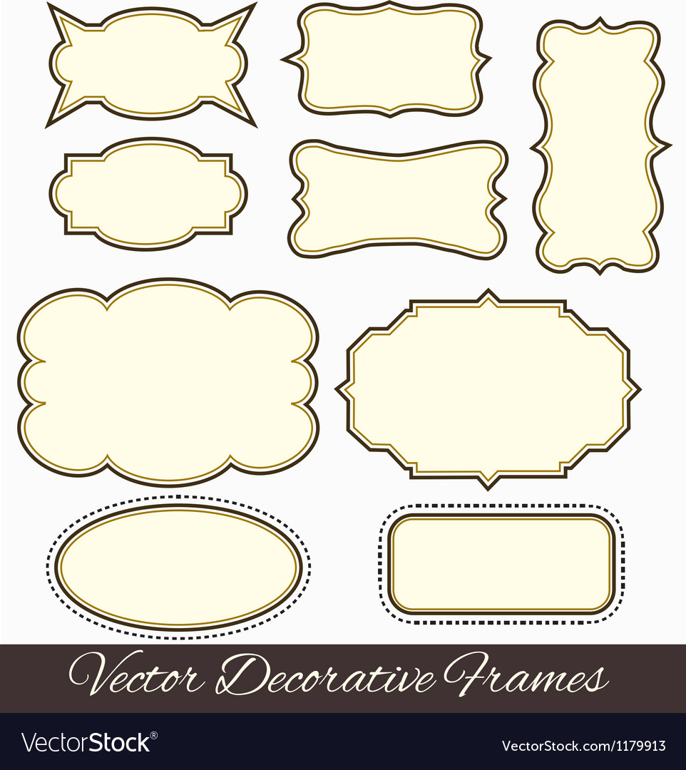 Frames design vector | Price: 1 Credit (USD $1)