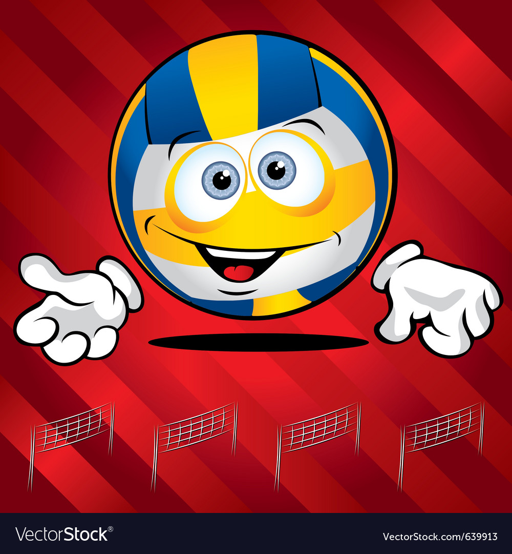 Funny smiling volley ball vector | Price: 1 Credit (USD $1)