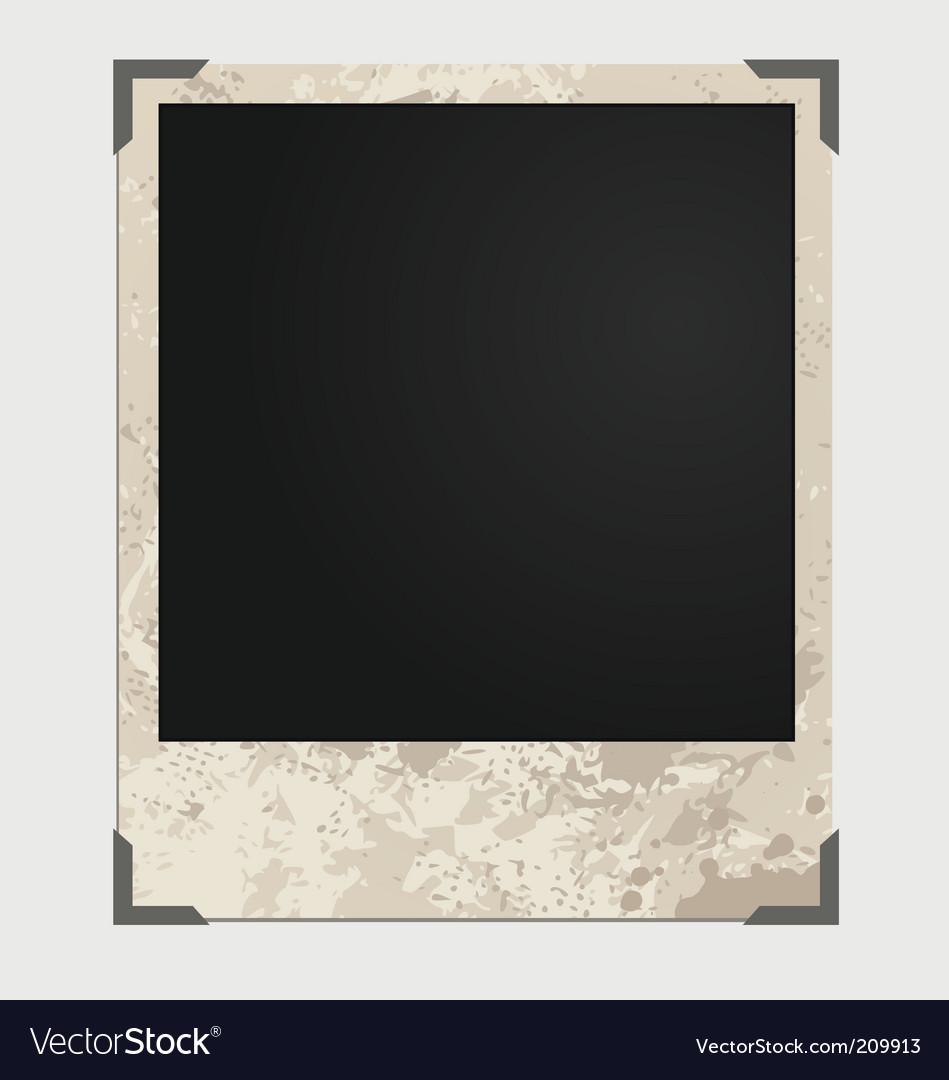 Grunge photo frame vector | Price: 1 Credit (USD $1)
