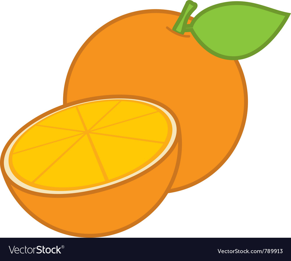 Orange sliced vector | Price: 1 Credit (USD $1)