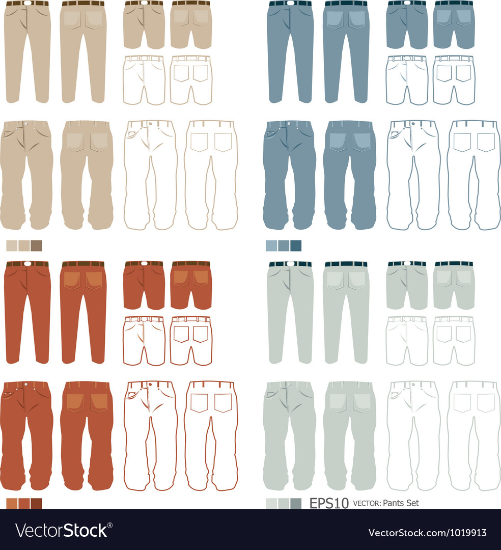 Pants fashion set vector | Price: 1 Credit (USD $1)