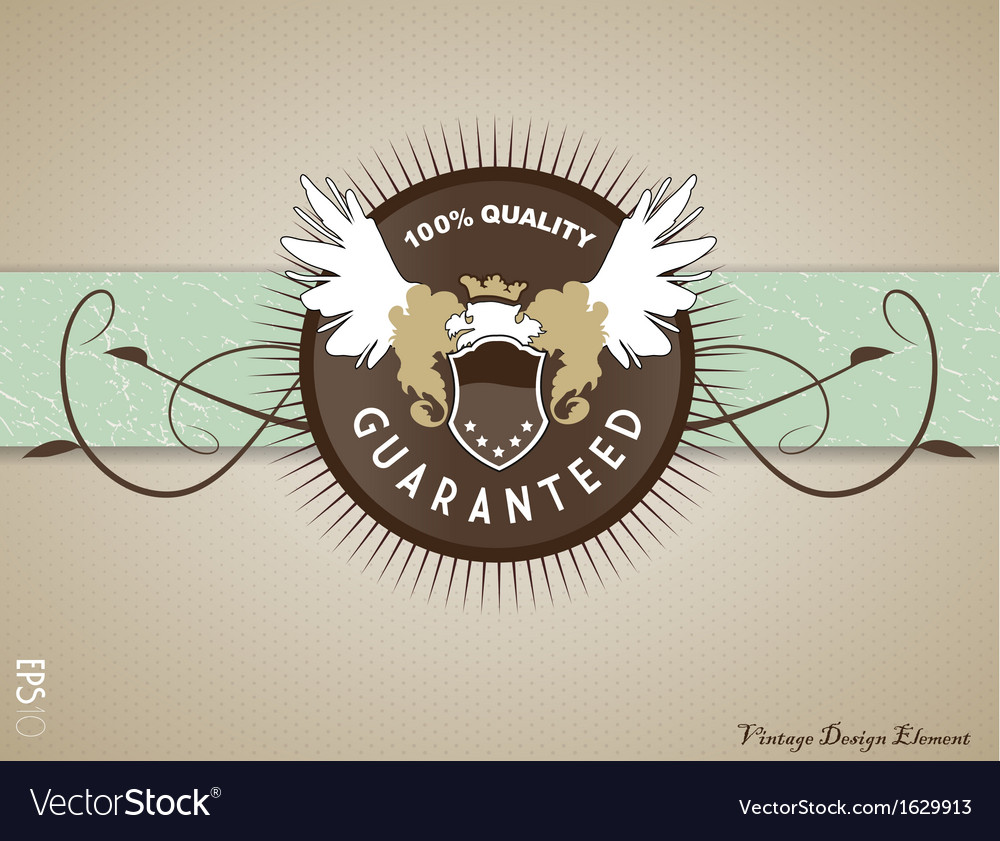 Retro vintage label on doted background vector | Price: 1 Credit (USD $1)
