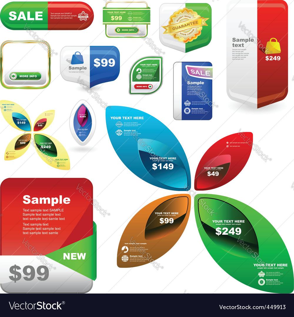 Sale signs vector | Price: 3 Credit (USD $3)