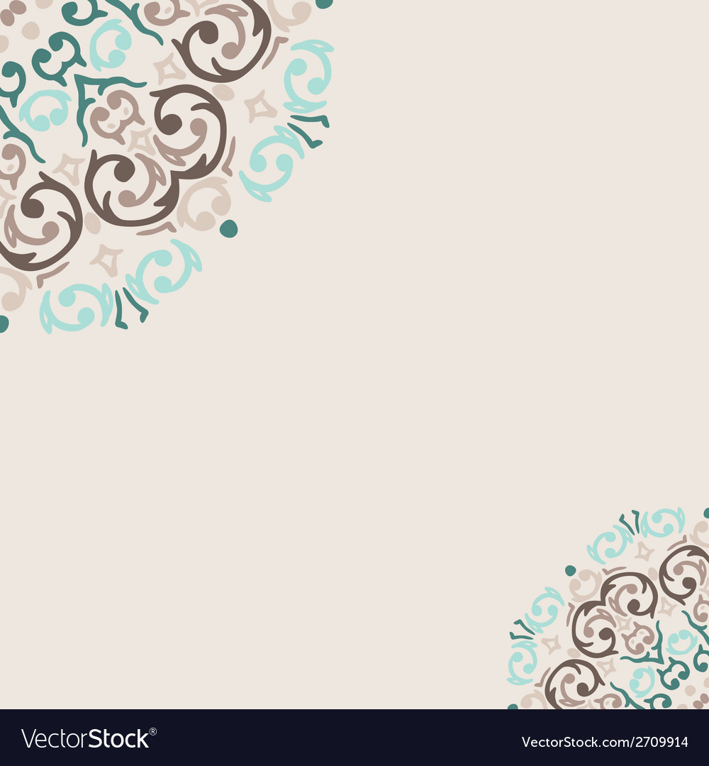 Abstract turquoise frame border corner vector | Price: 1 Credit (USD $1)