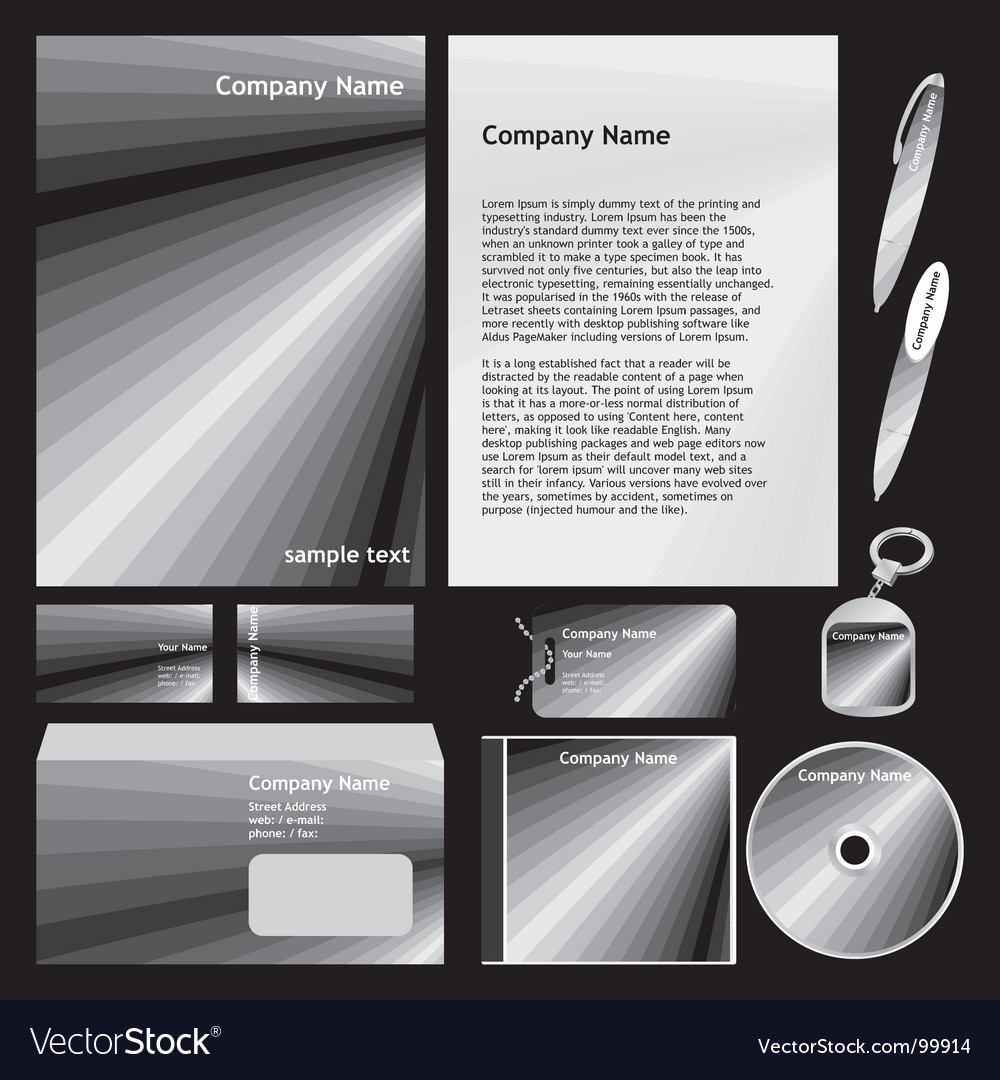 Company stationery templates vector | Price: 1 Credit (USD $1)