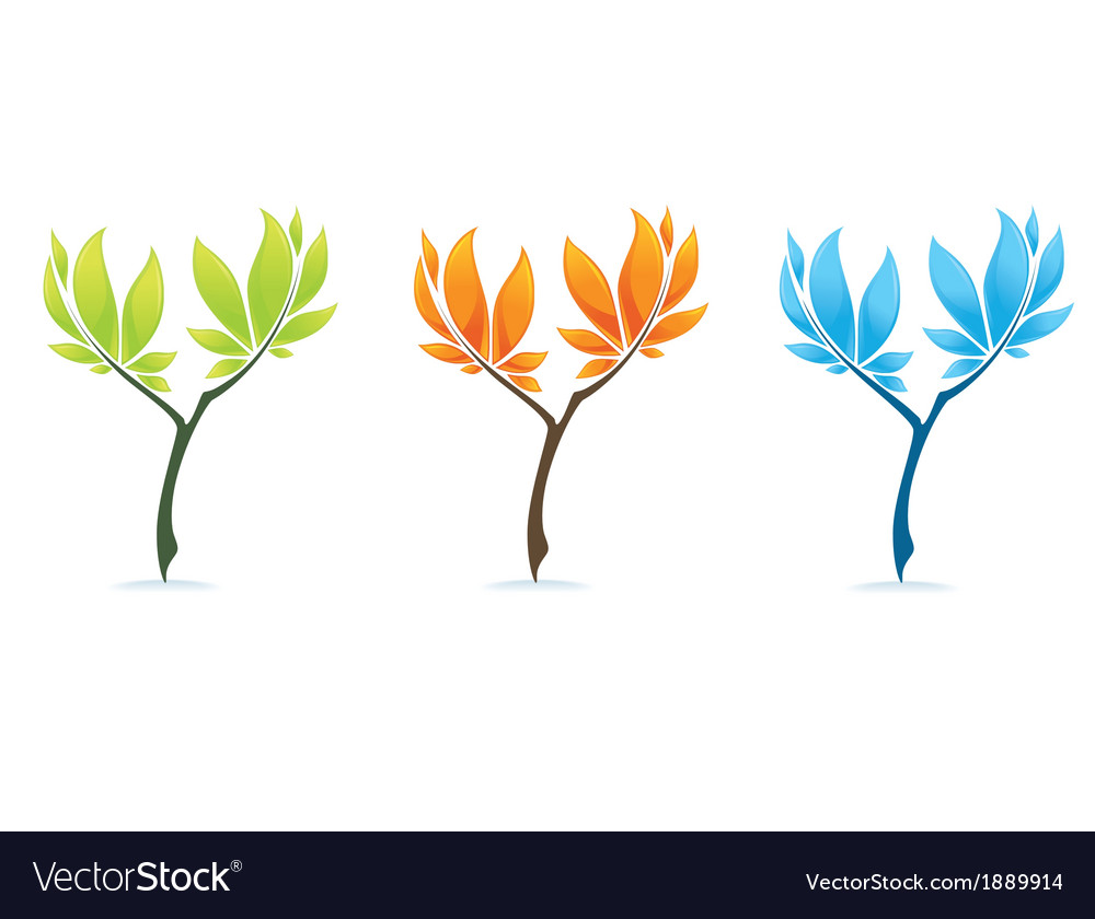 Different trees vector | Price: 1 Credit (USD $1)