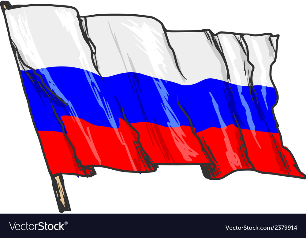 Flag of russia vector | Price: 3 Credit (USD $3)