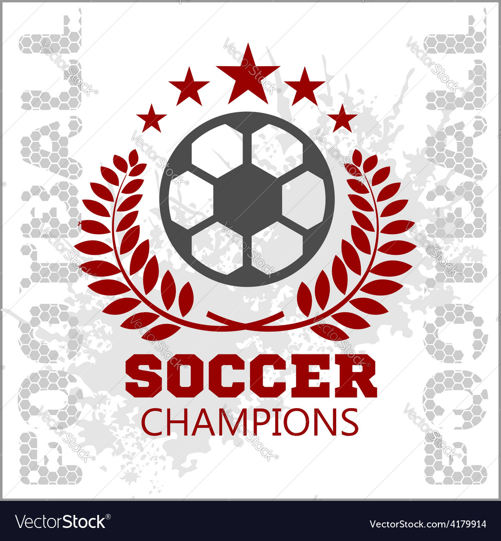 Football soccer badge patch and emblem for sport vector | Price: 1 Credit (USD $1)