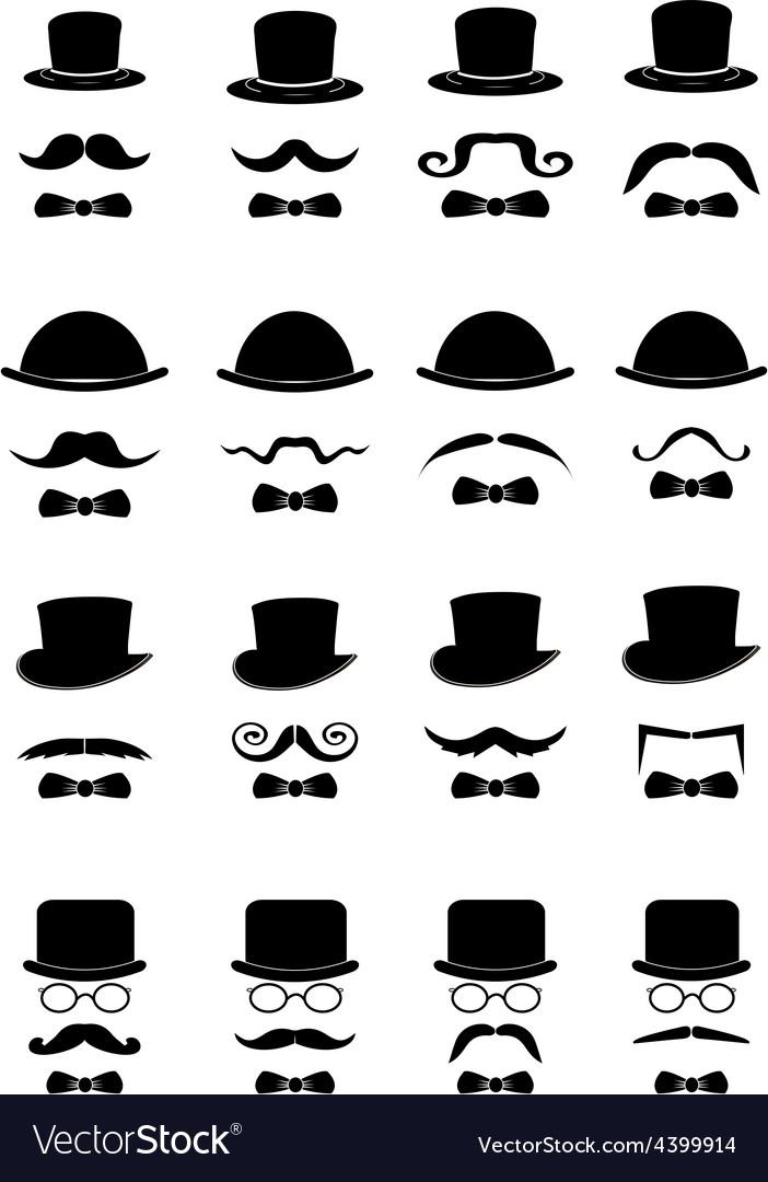 Gentleman icons set vector | Price: 3 Credit (USD $3)