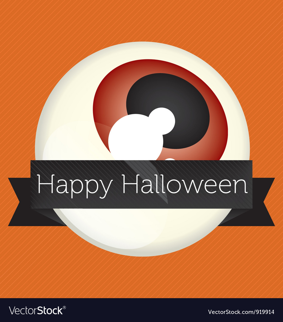 Happy halloween eyeball banner vector | Price: 1 Credit (USD $1)