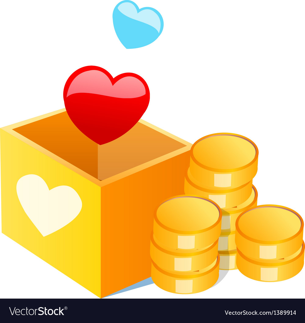 Icon cash and heart shape vector | Price: 1 Credit (USD $1)