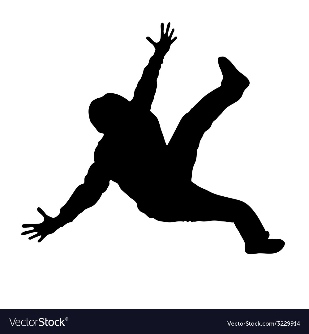 Man dancing black silhouette vector | Price: 1 Credit (USD $1)