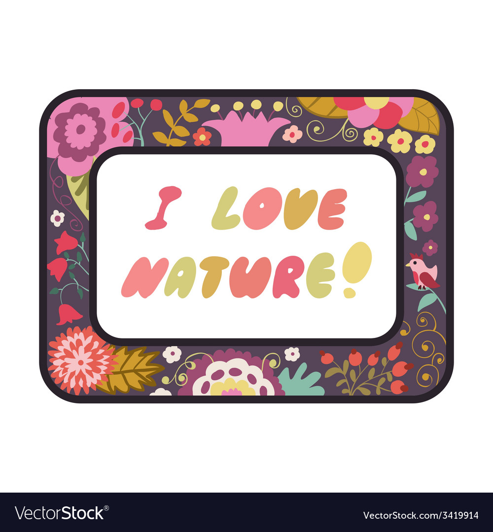 Original vintage frame with flowers and doodles vector | Price: 1 Credit (USD $1)