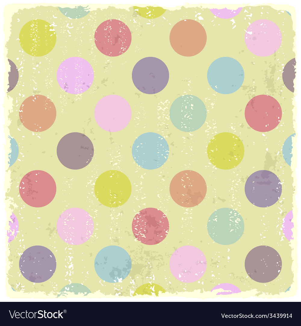 Retro style polka dot grunge pattern vector | Price: 1 Credit (USD $1)