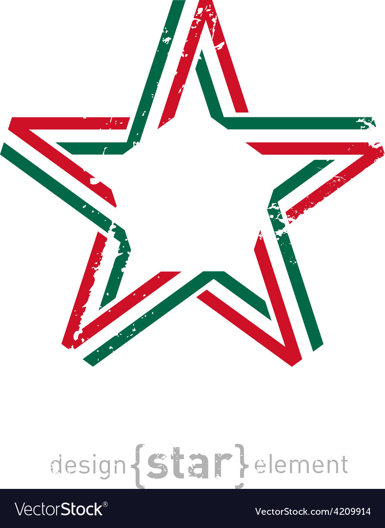 Star with mexico flag colors and grunge effect vector   Price: 1 Credit (USD $1)