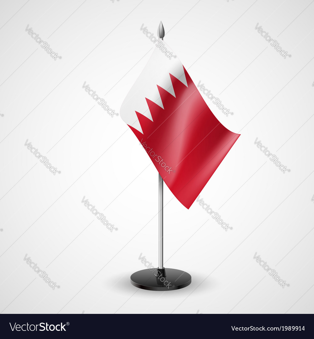 Table flag of bahrain vector | Price: 1 Credit (USD $1)