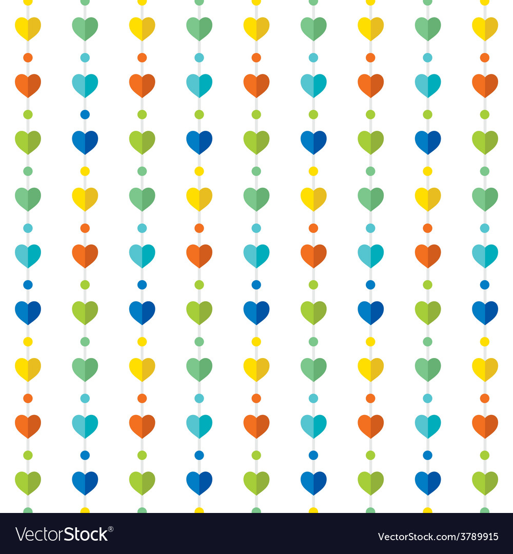Colorful heart shape pattern design background vector | Price: 1 Credit (USD $1)