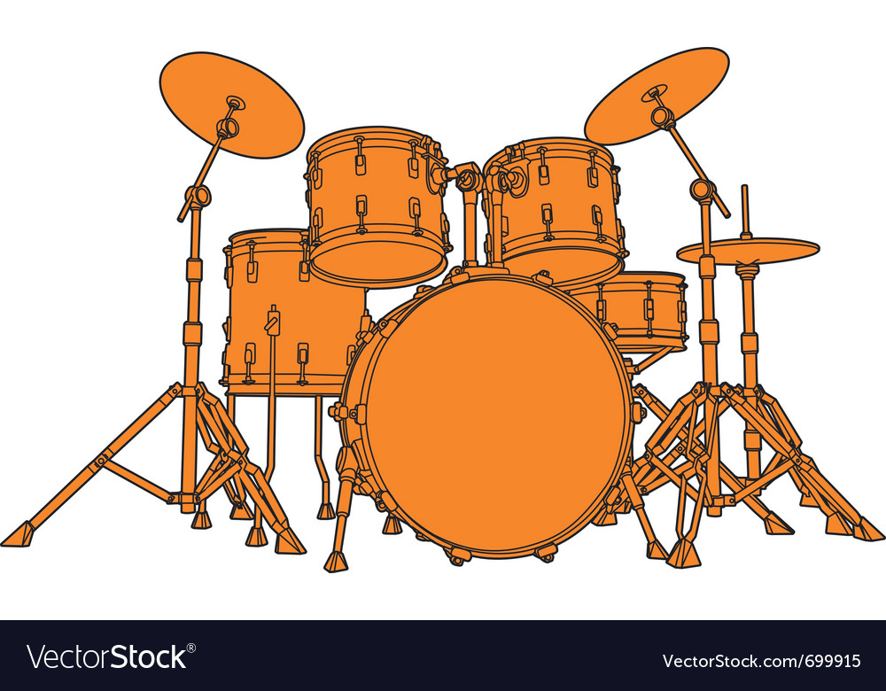 Drum set vector | Price: 1 Credit (USD $1)