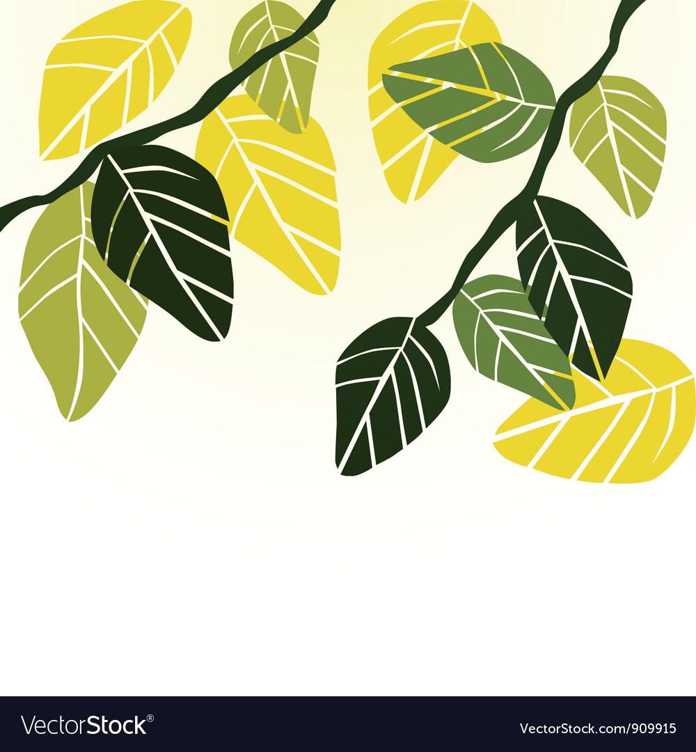 Leaf spring - background vector | Price: 1 Credit (USD $1)