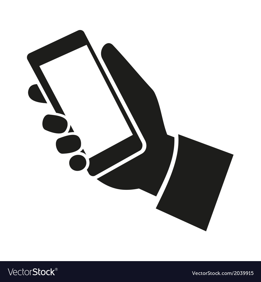 Mobile phone in hand icon vector | Price: 1 Credit (USD $1)