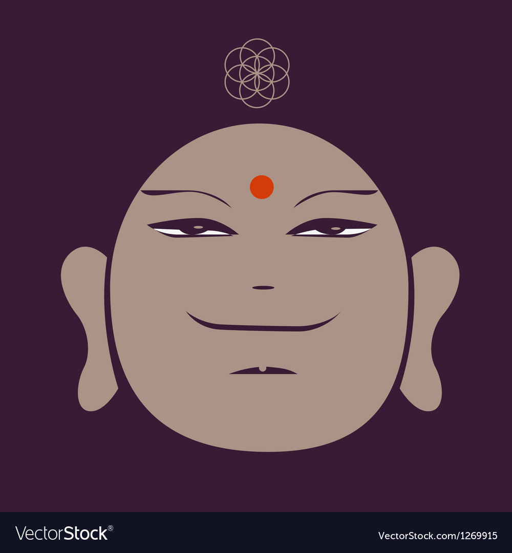 Portrait of the buddha meditative symbol of vector | Price: 1 Credit (USD $1)