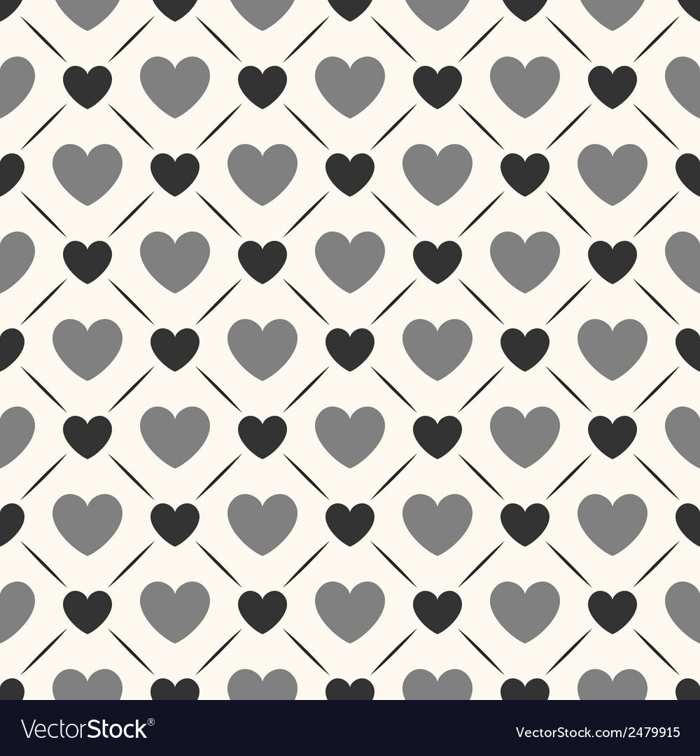 Seamless geometric pattern with hearts vector | Price: 1 Credit (USD $1)