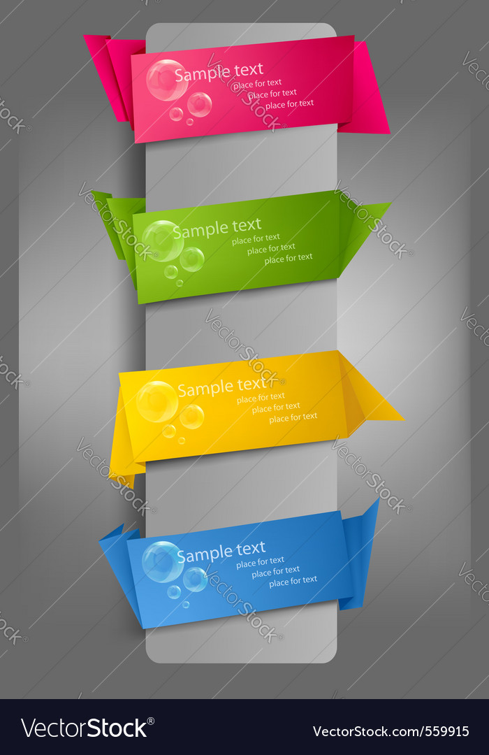 Set of colorful paper banners vector | Price: 1 Credit (USD $1)