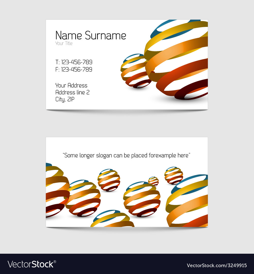 Set of modern business card templates vector | Price: 1 Credit (USD $1)