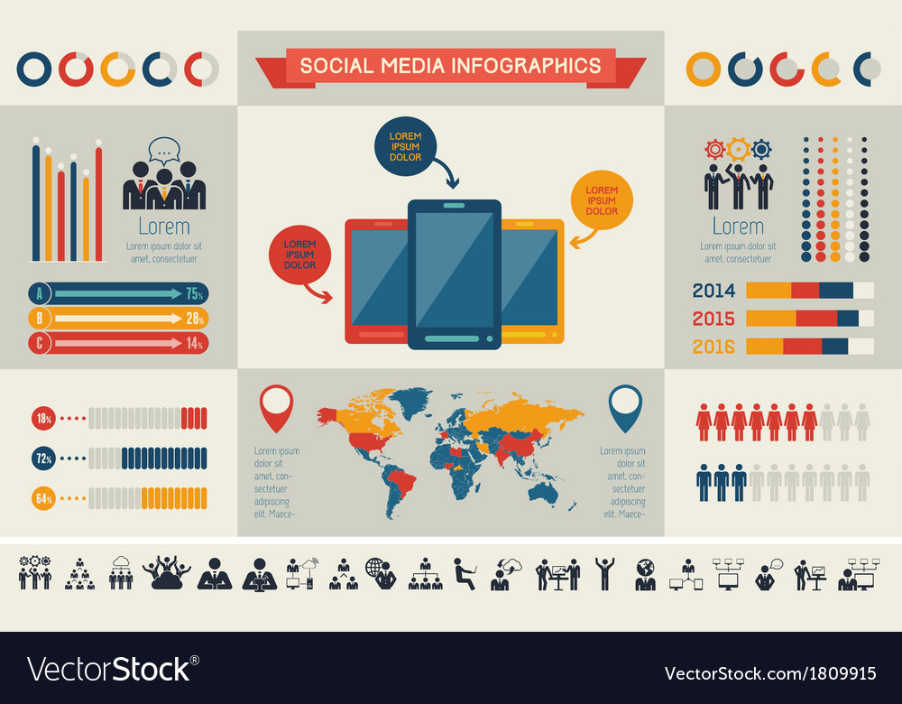 Social media infographic template vector | Price: 1 Credit (USD $1)