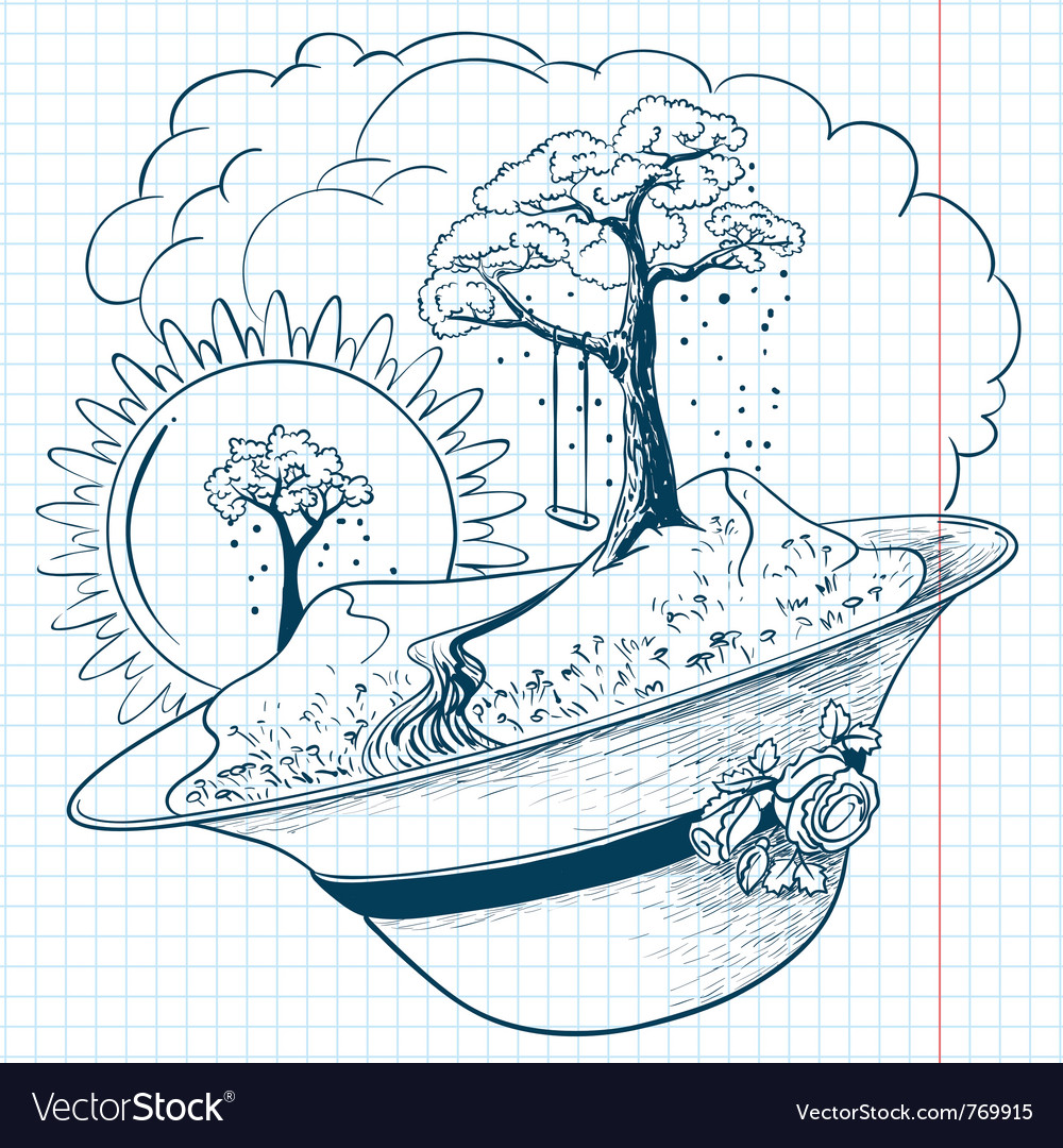 Spring season doodles vector | Price: 3 Credit (USD $3)
