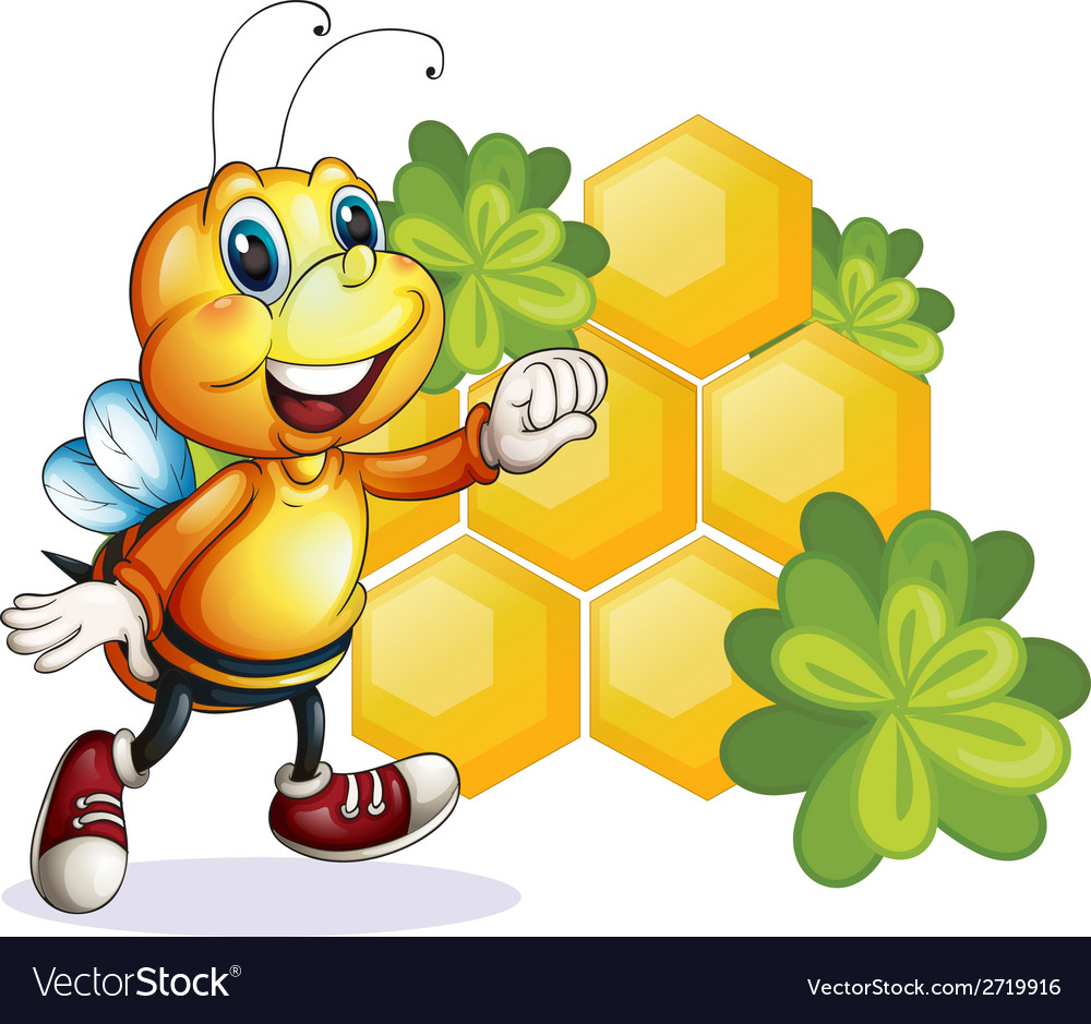 A smiling bee vector | Price: 1 Credit (USD $1)