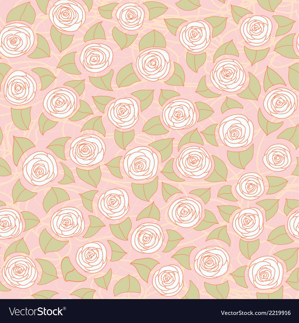 Floral seamless pattern with roses vector | Price: 1 Credit (USD $1)
