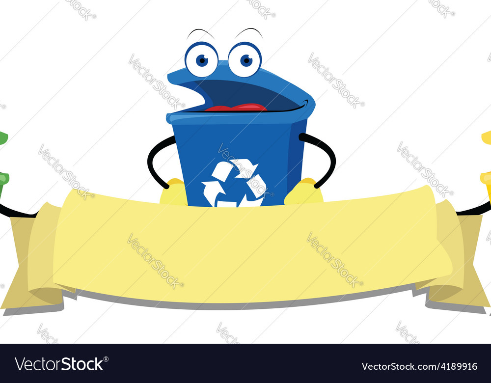 Funny recycling bins vector | Price: 1 Credit (USD $1)