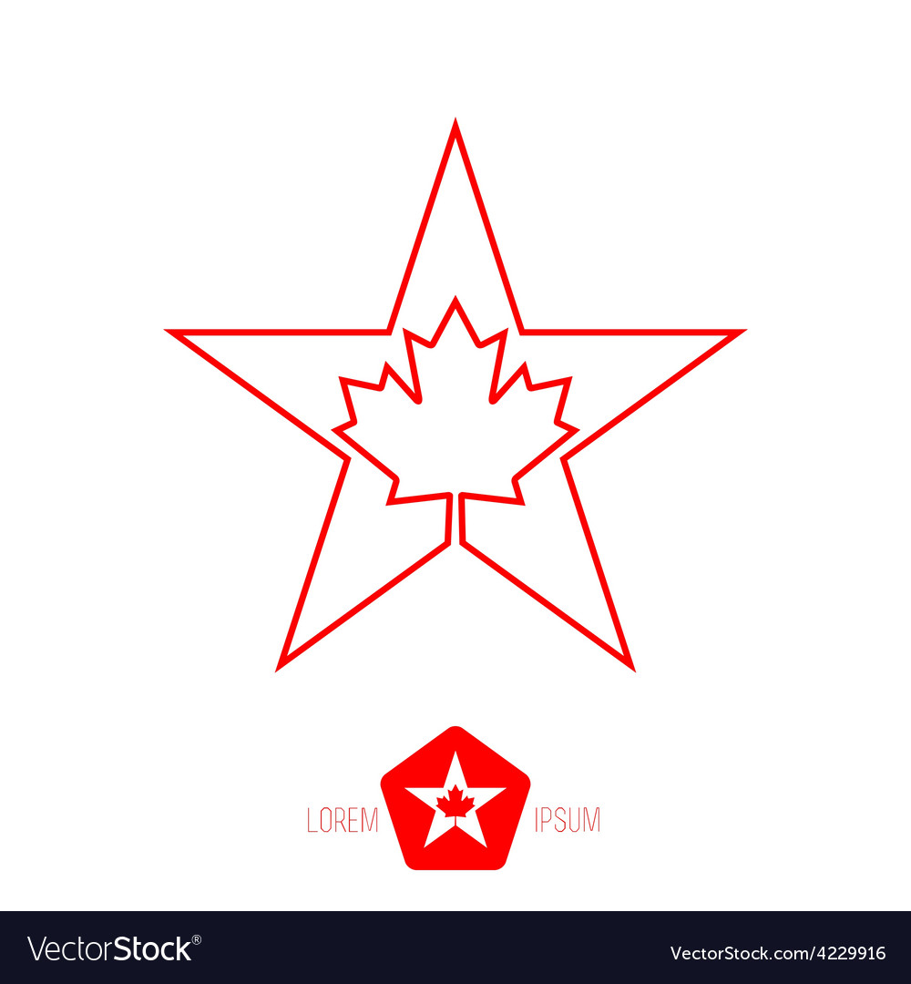 Minimal monochrome vintage star with canadian vector | Price: 1 Credit (USD $1)