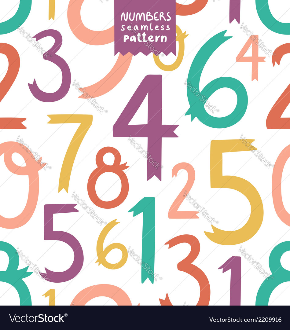 Numbers pattern vector | Price: 1 Credit (USD $1)