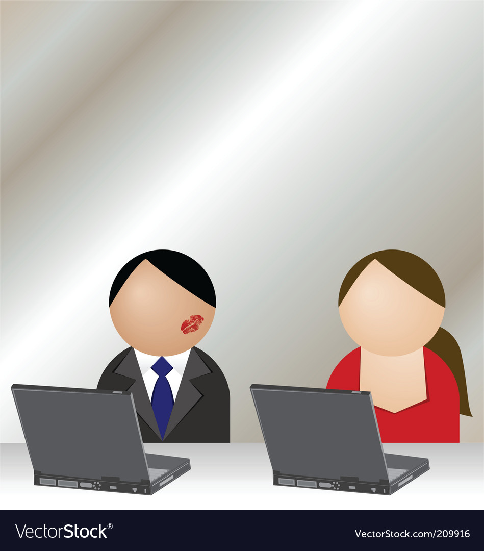 Office romance vector | Price: 3 Credit (USD $3)