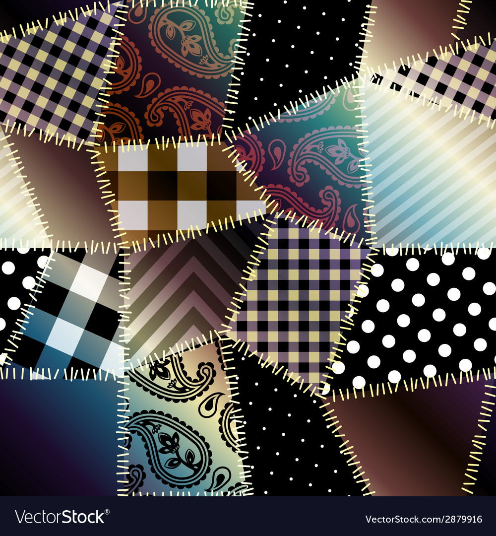 Patchwork with gradient shadow vector | Price: 1 Credit (USD $1)
