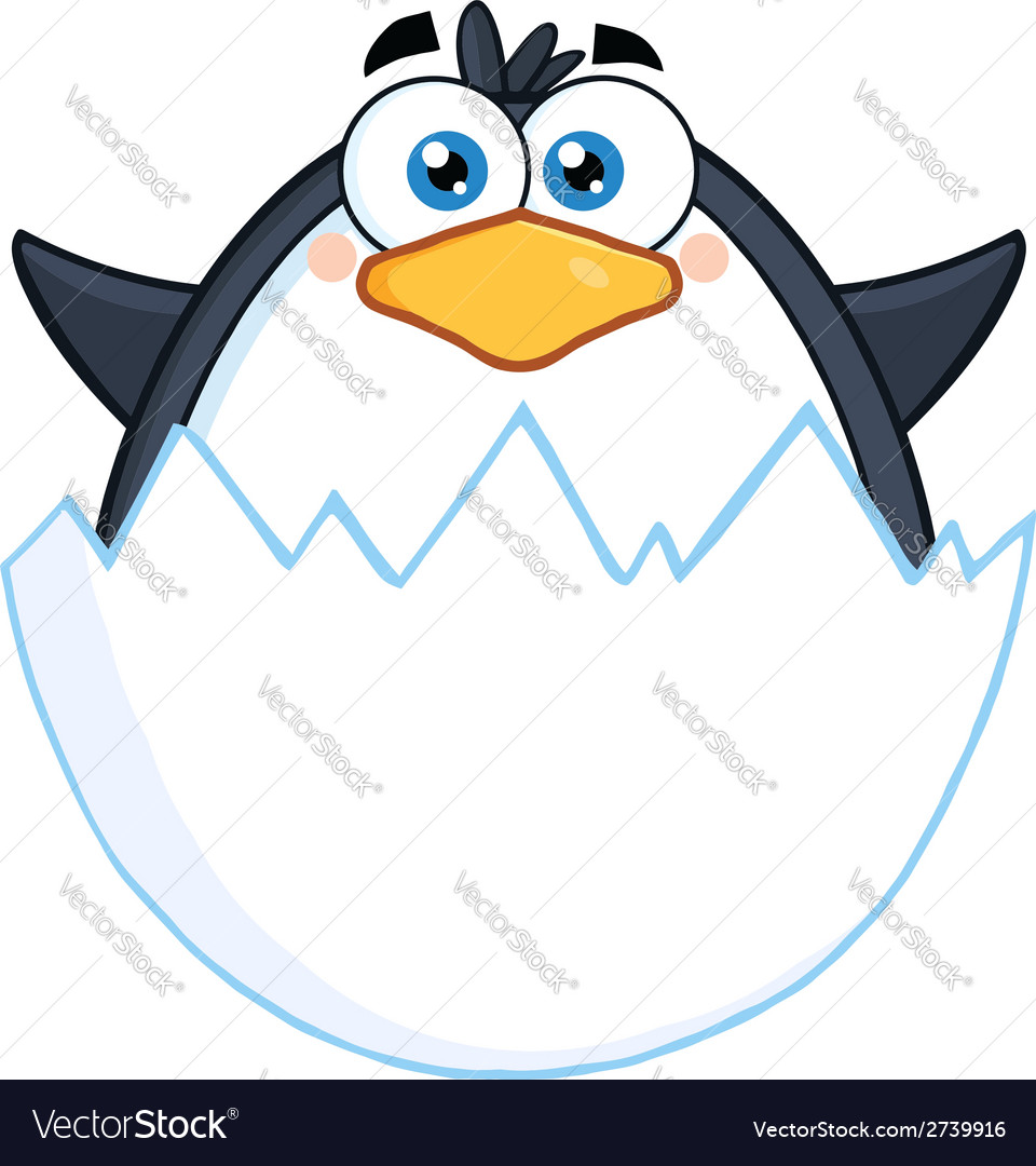 Penguin cartoon vector