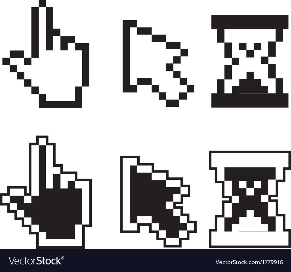 Pixel cursors vector | Price: 1 Credit (USD $1)