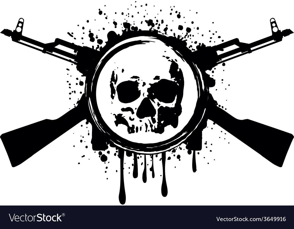 Skull akm blood vector