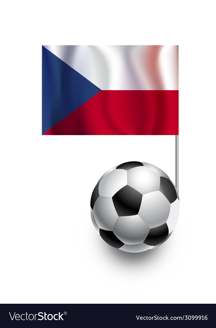 Soccer balls or footballs with flag of czech repub vector | Price: 1 Credit (USD $1)