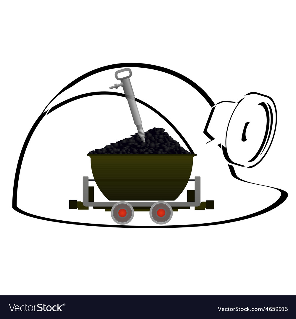 Trolley with coal vector | Price: 1 Credit (USD $1)