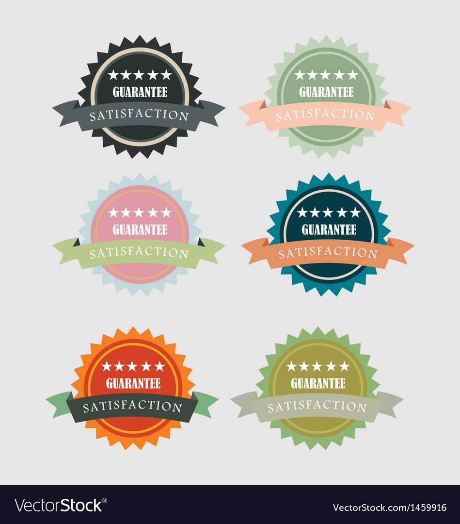 Vintage satisfaction guarantee round emblem vector | Price: 1 Credit (USD $1)