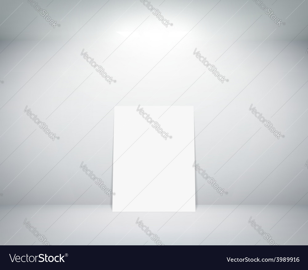 White sheet stands near a wall vector | Price: 1 Credit (USD $1)