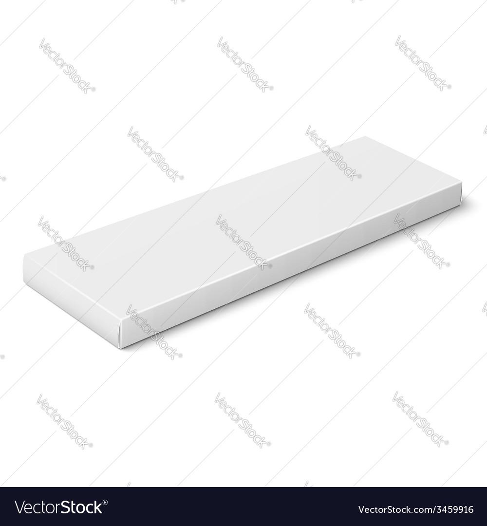 White slim paper box template vector | Price: 1 Credit (USD $1)