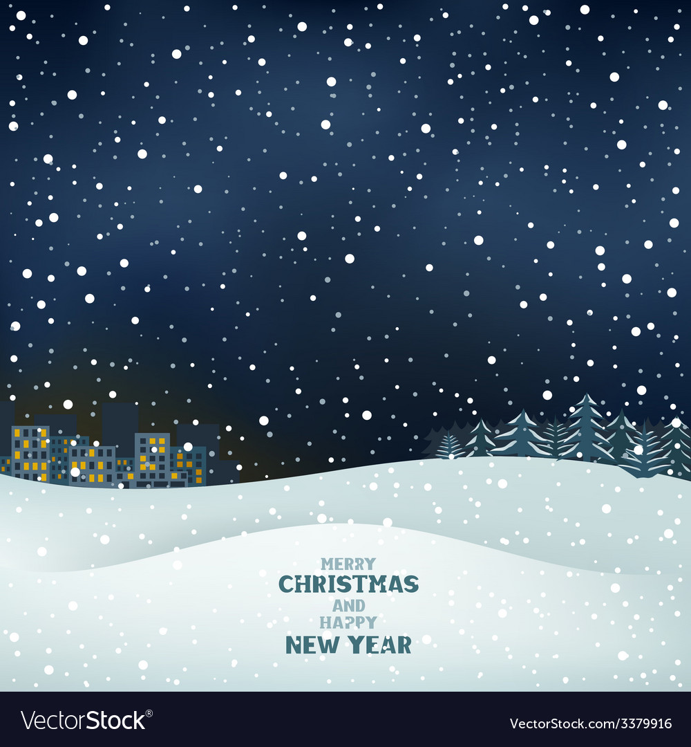 Winter christmas night vector | Price: 1 Credit (USD $1)